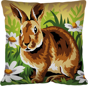 Margot Creations de Paris Needlepoint - Cushions - Lapin (Rabbit)