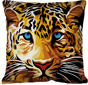 Margot Creations de Paris Needlepoint - Cushions - Leopard