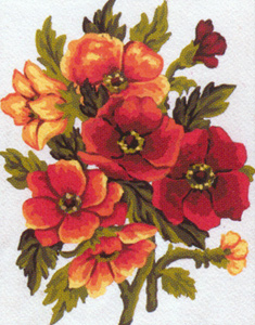 Flowers  - Collection d'Art Needlepoint Canvas