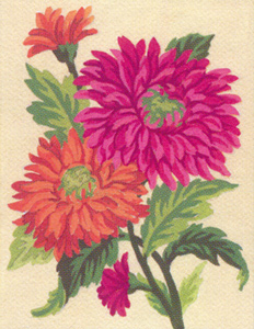 Flowers 2  - Collection d'Art Needlepoint Canvas
