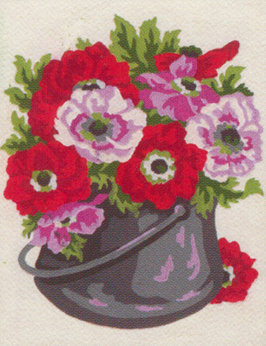 Bucket of Flowers  - Collection d'Art Needlepoint Canvas