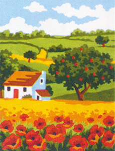 Poppy Field  - Collection d'Art Needlepoint Canvas