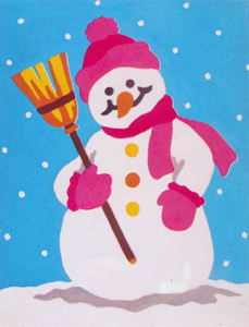 Snowman  - Collection d'Art Needlepoint Canvas