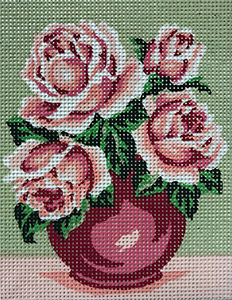 Vase of Roses  - Collection d'Art Needlepoint Canvas