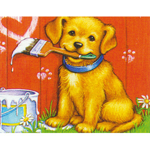 Puppy Artist  - Collection d'Art Needlepoint Canvas