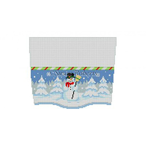 Susan Roberts Needlepoint Designs - Hand-painted Christmas Stocking Topper - Snowman