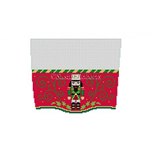 Susan Roberts Needlepoint Designs - Hand-painted Christmas Stocking Topper - Nutcracker