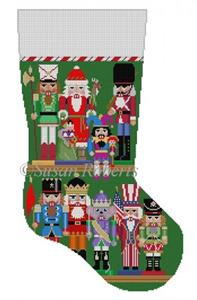Susan Roberts Needlepoint Designs - Hand-painted Christmas Stocking - Nutcracker Collection