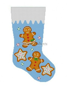 Susan Roberts Needlepoint Designs - Hand-painted Christmas Stocking - Gingerbread