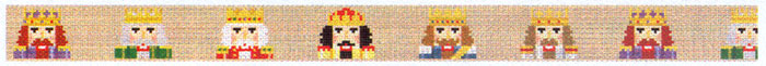 Susan Roberts Needlepoint Belt Canvas - Nutcrackers
