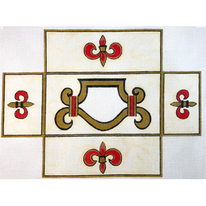Fleur de Lis Brick Cover Hand Painted Canvas by Janice Gaynor