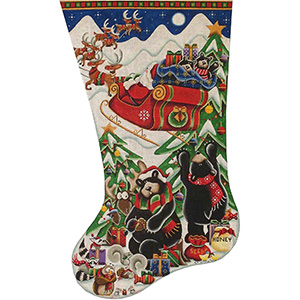 Stowe Aways Hand Painted Stocking Canvas from Rebecca Wood