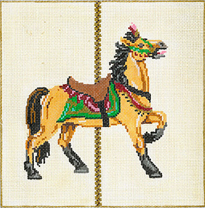 Carousel Horse 3C - Stitch Painted Needlepoint Canvas from Sandra Gilmore