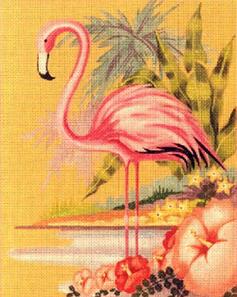Leigh Designs - Hand-painted Needlepoint Canvases - Tropicana - Santiki