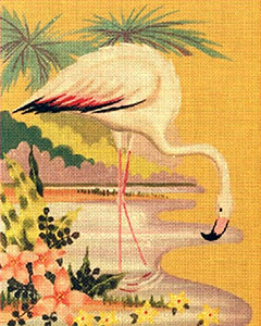Leigh Designs - Hand-painted Needlepoint Canvases - Tropicana - Palmetto