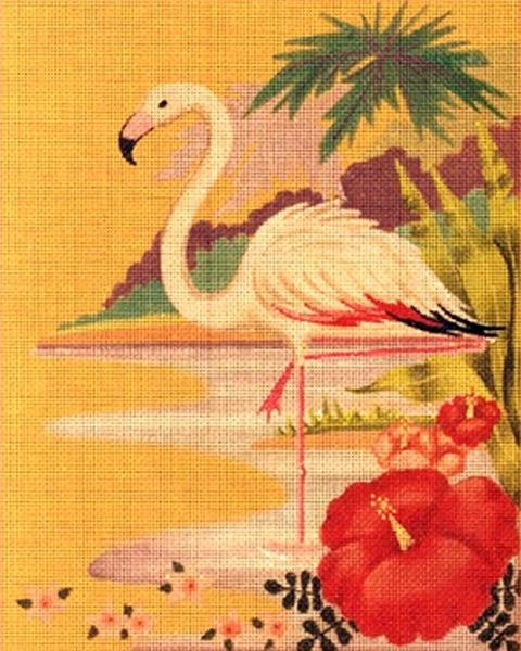 Leigh Designs - Hand-painted Needlepoint Canvases - Tropicana - Havana