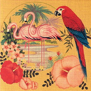 Leigh Designs - Hand-painted Needlepoint Canvases - Tropicana - Cuba Libre'
