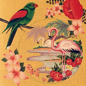Leigh Designs - Hand-painted Needlepoint Canvases - Tropicana - Daiquiri
