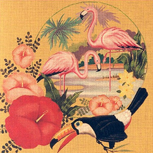 Leigh Designs - Hand-painted Needlepoint Canvases - Tropicana - Mai Tai