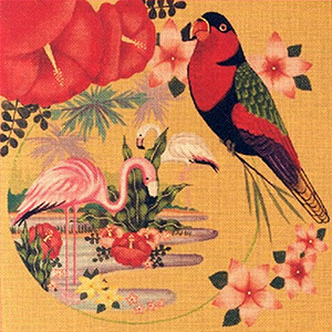 Leigh Designs - Hand-painted Needlepoint Canvases - Tropicana - Pina Colada