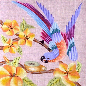 Leigh Designs - Hand-painted Needlepoint Canvases - Brazil Collection - Rhumba