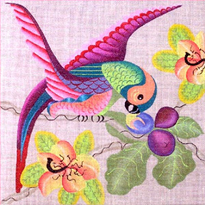 Leigh Designs - Hand-painted Needlepoint Canvases - Brazil Collection - Flamenco