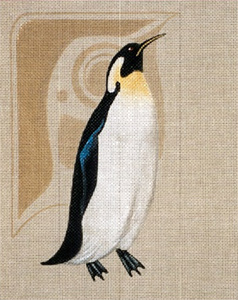 Leigh Designs - Hand-painted Needlepoint Canvases - Emperor Penguin