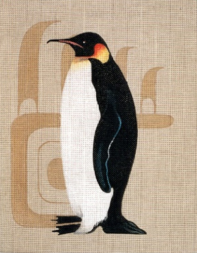 Leigh Designs - Hand-painted Needlepoint Canvases - King Penguin