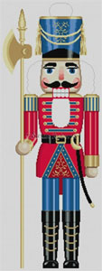 Susan Roberts Needlepoint Designs - Hand-painted Christmas Canvas - Large Nutcracker Soldier