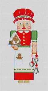 Susan Roberts Needlepoint Designs - Hand-painted Christmas Canvas - Nutcracker Mrs. Claus
