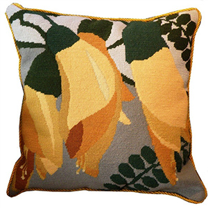 Kowhai Needlepoint Cushion Kit - Product of New Zealand