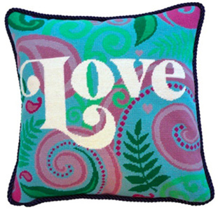 Love Needlepoint Cushion Kit - Product of New Zealand
