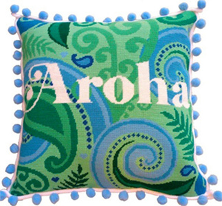 Aroha Needlepoint Cushion Kit - Product of New Zealand