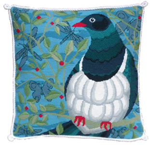 Kereru Needlepoint Cushion Kit - Product of New Zealand