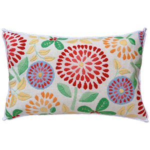 Flower Power Needlepoint Cushion Kit - Product of New Zealand