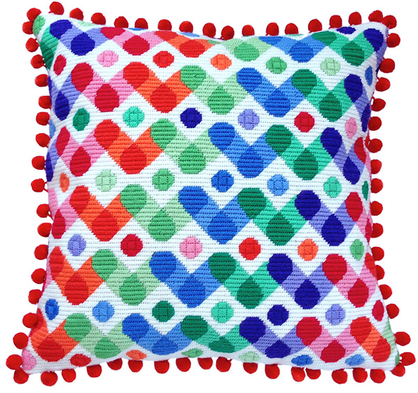 Rainbow Needlepoint Cushion Kit - Product of New Zealand