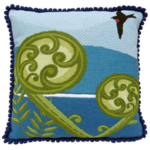 Koru Needlepoint Cushion Kit - Product of New Zealand