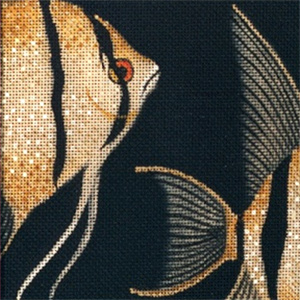 Leigh Designs - Hand-painted Needlepoint Canvases - Tropical Fish - Angel Fish Coaster