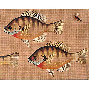 Leigh Designs - Hand-painted Needlepoint Canvases - Bluegill Canvas
