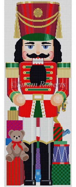 Susan Roberts Needlepoint Designs - Hand-painted Christmas Canvas - Nutcracker with Toys