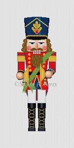Susan Roberts Needlepoint Designs - Hand-painted Canvas - Nutcracker Cymbals