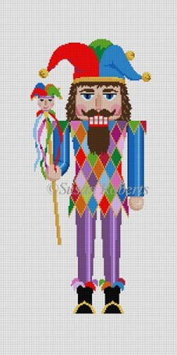 Susan Roberts Needlepoint Designs - Hand-painted Canvas - Nutcracker Jester