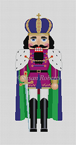 Susan Roberts Needlepoint Designs - Hand-painted Canvas - Caped King Nutcracker