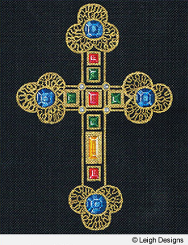 Leigh Designs - Hand-painted Needlepoint Canvases - Historic Crosses - Cross of Cid