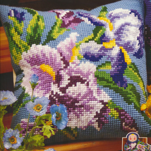 Iris Mauve - Collection d'Art Needlepoint Kit