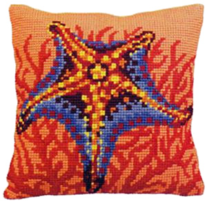 Etoile et Corail Orange - Collection d'Art Needlepoint Kit