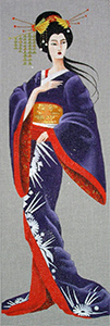 Leigh Designs - Hand-painted Needlepoint Canvases - Geishas - Taki