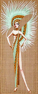 Leigh Designs - Hand-painted Needlepoint Canvases - Showgirls - Minsky