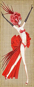 Leigh Designs - Hand-painted Needlepoint Canvases - Showgirls - Lido