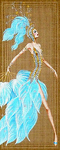 Leigh Designs - Hand-painted Needlepoint Canvases - Showgirls - Stardust